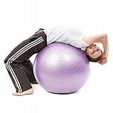 Мяч для фитнеса (фитбол) шар Springos 65 см Anti-Burst FB0011 фиолетовый. Гимнастический мяч, фото 7