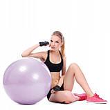 Мяч для фитнеса (фитбол) шар Springos 65 см Anti-Burst FB0011 фиолетовый. Гимнастический мяч, фото 10