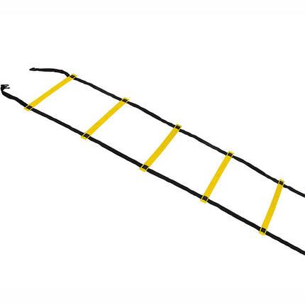 Координационная лестница SELECT Agility ladder - outdoors, желт/черн (14 ступеней, 6 м), фото 2
