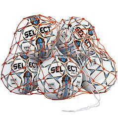 Сітка для м'ячів SELECT BALL NET (002) помаранчевий, 6/8 м'ячів