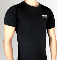 Термобельё SELECT Compression T-Shirt with short sleeves 6900 черный p.S
