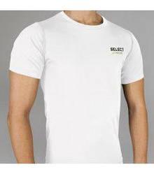 Термобельё SELECT Compression T-Shirt with short sleeves 6900 белая p.XL