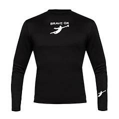 Термофутболка воротарська BRAVE GK з захистом, чорний p.L