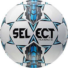 М'яч футбольний SELECT Numero 10 (305) білий/сірий/голуб, розмір 3