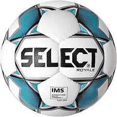 М'яч футбольний SELECT Royal IMS (011) бел/сін, р. 5