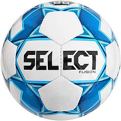 М'яч футбольний SELECT Fusion (005) бел/сін, розмір 3