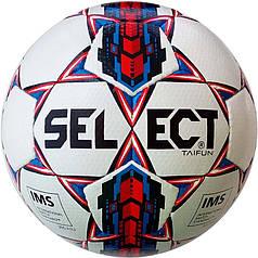 Мяч футбольный SELECT Taifun IMS (017) бел/красн, pазмер 5