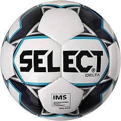 Мяч футбольный SELECT Delta IMS (015) бел/сер размер 5