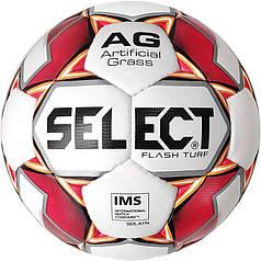 М'яч футбольний SELECT Flash Turf IMS (012) бел/красн р. 5