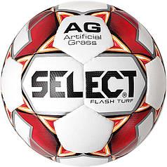 М'яч футбольний SELECT Flash Turf (012) бел/красн розмір 4