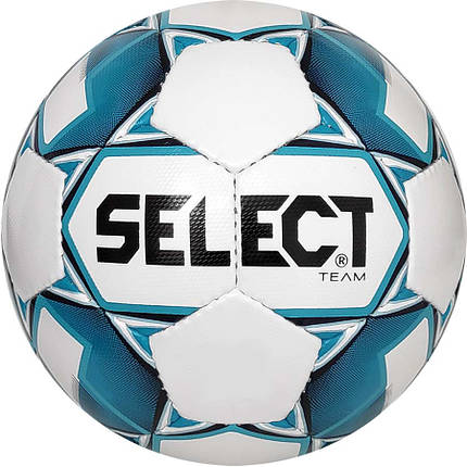 Мяч футбольный SELECT Team  (014) бело/голубой р.4, фото 2