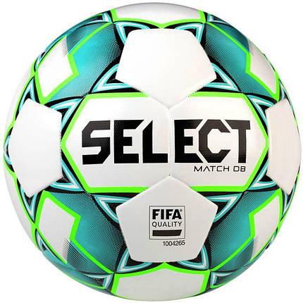 Мяч футбольный SELECT Match DB FIFA  (748), бел/зелен р.5, фото 2