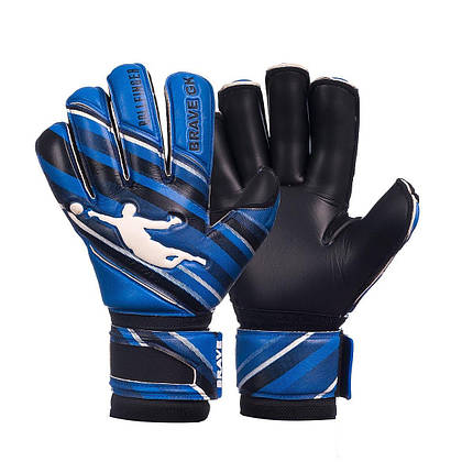 Перчатки вратарские BRAVE GK PHANTOME BLACK/BLUE NEW, фото 2