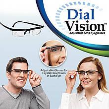 Окуляри з регулюванням лінз Dial Vision (від -6D до +3D), Окуляри для зору, Регульовані окуляри Dial Vision/