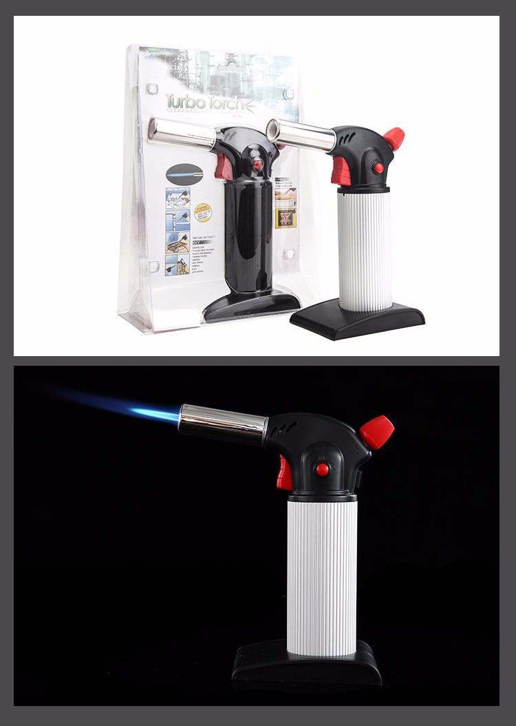 Газовая горелка Turbo Torchе, Ручная туристическая газовая горелка с пьезоподжигом, Портативные газовые