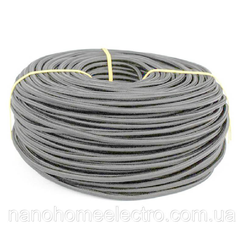 ElectroHouse Шнур 2х0,75 в обплетенні сірий