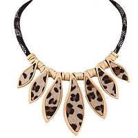 Нарядное украшение на шею ― с леопардовым принтом  на любой праздник, корпоратив, День рождения.
