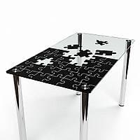 Стол обеденный из стекла модель Пазл