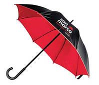 Зонт-трость, двухцветный, 7 цветов, с нанесением логотипов, для подарка и в рекламных целях