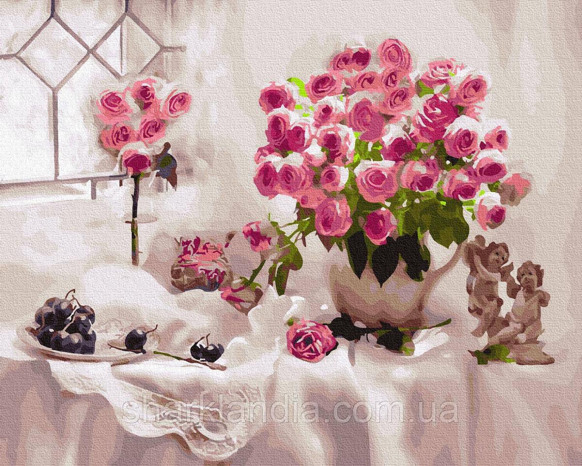 Картина по Номерам Розы и виноград 40х50см RainbowArt
