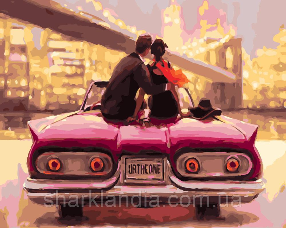 Картина по номерам Романтика городских огней 40х50см RainbowArt День Св Валентина Авто