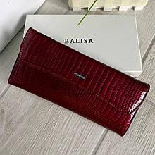 Женский кожаный кошелёк Balisa Light бордо (вишневый) ККБЛ55