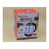 Электро чайник ВIТЕК ВТ-3110 2400W 1,8L стекло с подсветкой, фото 2