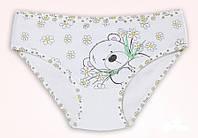 """Трусики для девочки """"Мишка с цветами"""", размер 4/5"""