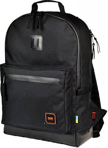 """Городской рюкзак для ноутбука 15,6"""", 23 л. Gud Classic Black edition, 010-1 черный"""