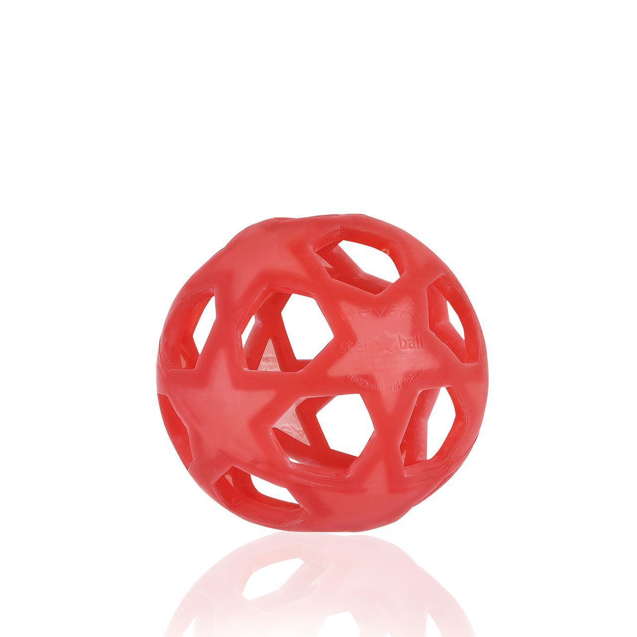 Игрушка-прорезыватель Звёздный Шар малиново-красный Hevea planet