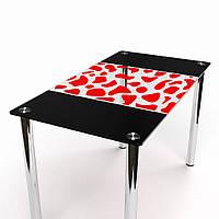 Стол обеденный из стекла модель Долматинец