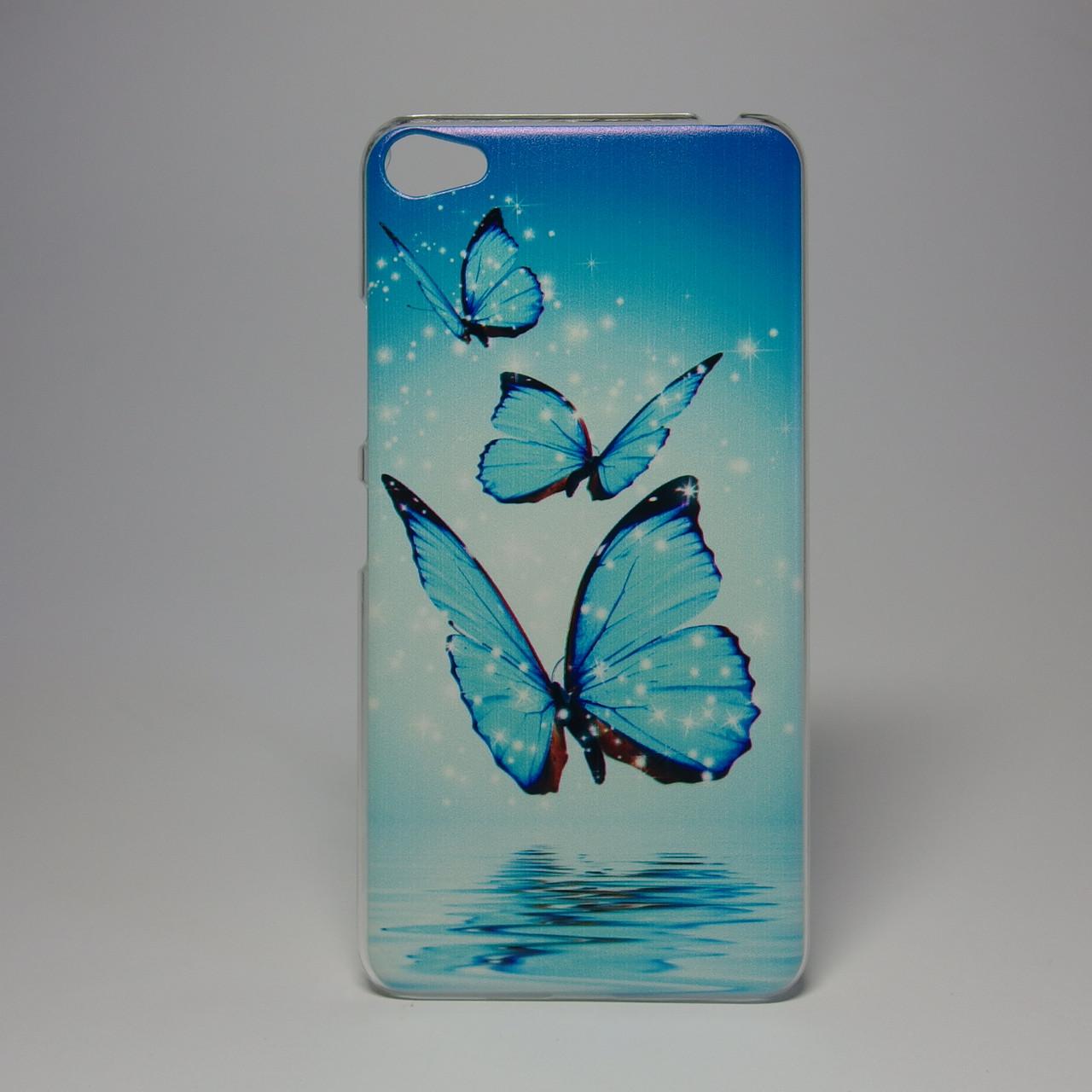 Чехол для lenovo s60 панель накладка с рисунком бабочки