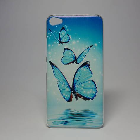 Чехол для lenovo s60 панель накладка с рисунком бабочки , фото 2