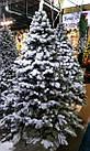Елка Ковалевская 1.8 м заснеженная искусственная литая с подставкой, новогодняя ель литая, фото 2