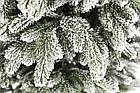 Елка Ковалевская 1.8 м заснеженная искусственная литая с подставкой, новогодняя ель литая, фото 3