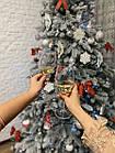 Елка Ковалевская 1.8 м заснеженная искусственная литая с подставкой, новогодняя ель литая, фото 5