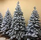 Елка Ковалевская 1.8 м заснеженная искусственная литая с подставкой, новогодняя ель литая, фото 7