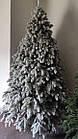 Елка Ковалевская 1.8 м заснеженная искусственная литая с подставкой, новогодняя ель литая, фото 8