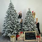 Елка Ковалевская 1.8 м заснеженная искусственная литая с подставкой, новогодняя ель литая, фото 10