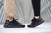 Кроссовки унисекс Nike Air Huarache черного цвета копия