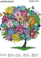 Схема для вышивки бисером  Дерево счастья