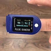 Пульсоксиметр PulseOximeter оксиметр на палец напалечный портативный прибор для измерения сатурации пульсометр
