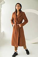 PERRY Пальто с поясом - св-коричн цвет, L