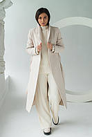 PERRY Пальто с поясом - молочный цвет, S