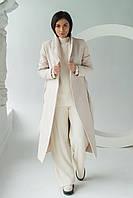 PERRY Пальто с поясом - молочный цвет, M