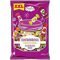 Конфеты жевательные Candies World «Kaubonbons» 1200 грамм, 5 фруктовых сортов с натуральным вкусом.