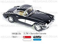 Машинка железная инерционная Chevrolet Corvette 1:34: 4 цвета
