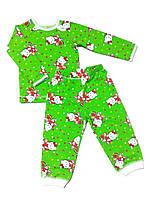 Детская пижама 62, зеленый
