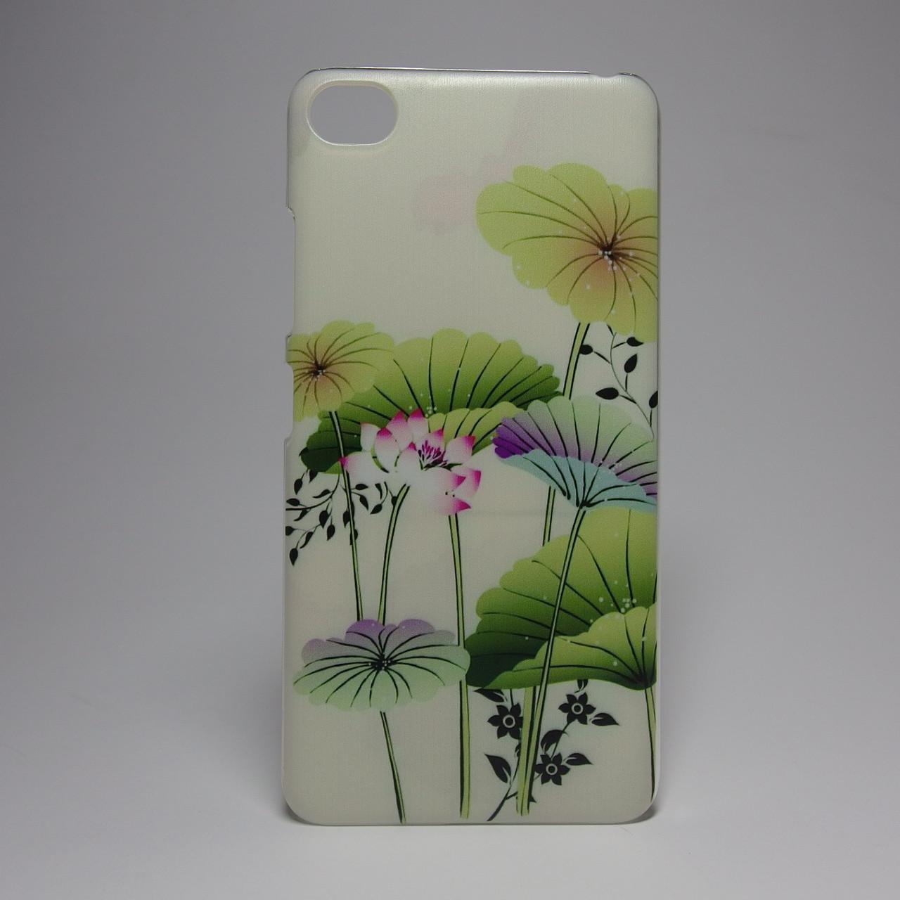 Чехол для lenovo s90 панель накладка с рисунком цветы
