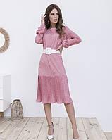 Платье женское ретро розовое
